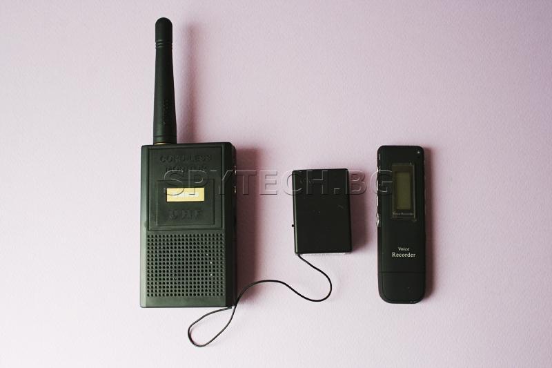 Aудио приемник-предавател за подслушване + мултифункционален цифров аудио рекордер / ST14