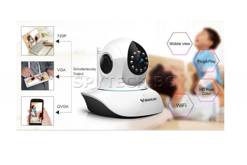 Wi-Fi IP камера с PAN/TILT